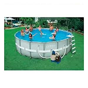 Piscine tubulaire intex ultra frame filtration sable for Piscine intex amazon