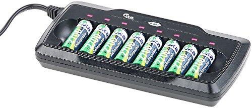 tka Köbele Akkutechnik Batterieladegerät Akku: Ladegerät für 8 AA- & AAA-Akkus, mit Kontroll-LEDs & Sicherheits-Timer (NiMH und NiCd Akku Ladegeräte)