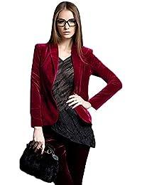 meet 1c6bd 249ae Amazon.it: Giacca Velluto Donna - Rosso / Donna: Abbigliamento