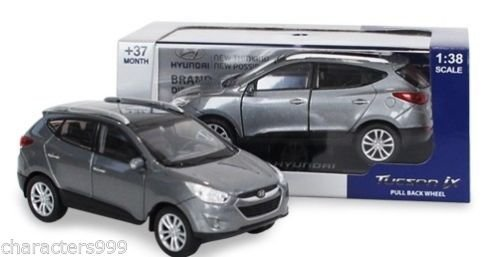 HYUNDAI Collection Miniature car toy 1:38 Diecast car scale Tucson Silver!!KOREA by Hyundai MOTORS collection