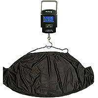 Báscula digital electrónica de pesca 50kg y Kit de carpa eslinga NGT para pesar con gancho