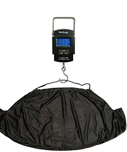 Angeln, elektronische Digital-Waage, 50kg und NGT, Karpfen-Waage, Sack, Tragetuch, mit Haken