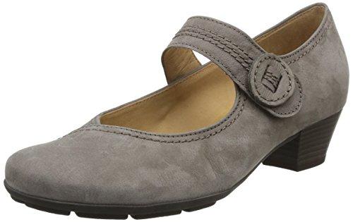 Gabor Comfort MARY JANE PUMPS Grigio Marrone Stile Classica DONNA TG de 42 Pelle