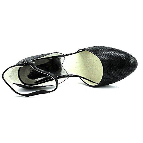 Michael Michael Kors Georgia Ankle Strap Rund Textile Stöckelschuhe Black