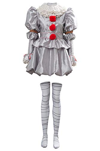 Kostüm Damen Clown - MingoTor IT Pennywise The Clown Cosplay Kostüm Damen XXXL