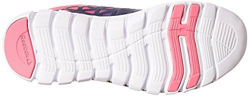 Reebok Sublite Xt Cushion 2 Grmt, Chaussures de Running Entrainement Femme Bleu - Azul  (Collegiate Navy / Poison Pink / White)
