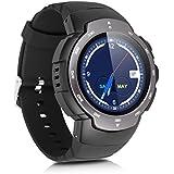Zeblaze Blitz - 3G Impermeable Ajustable Smartwatch Smartphone Reloj Android 5.1 (Pantalla 1.33'', MTK6580 Quad Core, SIM, Bluetooth 4.0, 4G Rom, WIFI GPS, Cámara 2Mp, Ritmo Cardíaco, Navegador, Podómetro) (Gris)