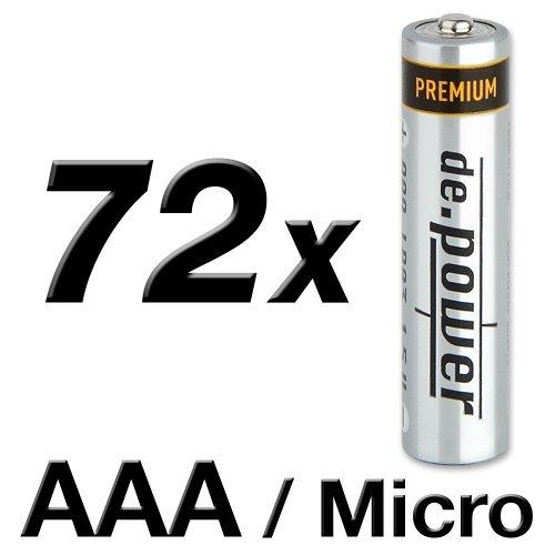 de. power LR03AAA-confezione di 72pile alcaline mini
