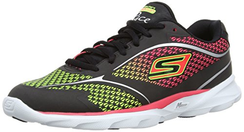 Skechers Go Run Pace Ombre, Scarpe sportive Donna Nero (Black/Hot Pink)