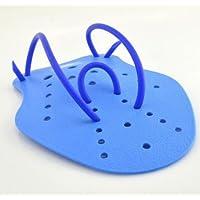 Li_unmio - 1 par de Guantes de natación para niños y Adultos, Color Azul, Color M, tamaño Medium
