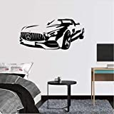 Sportwagen 85x41cm Wand PVC Modern Home Decor Design PVC Muster Wandtattoo Vinyl Aufkleber Art Decor Wallpaper Diy Geburtstag