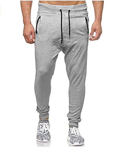 Beladla Pantaloni Uomo Cargo con Coulisse Cintura Elastica Casual Pantalone Harem Jogging Basso Sportivi Trousers Slim Fit Maschi Pants Colore Solido Atletica Abbigliamento Running