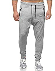 b9b4d9e44 VPASS Pantalones para Hombre,Pantalones Casuales Moda Deportivos Color  Sólido Pants Jogging Pantalon Fitness Gym