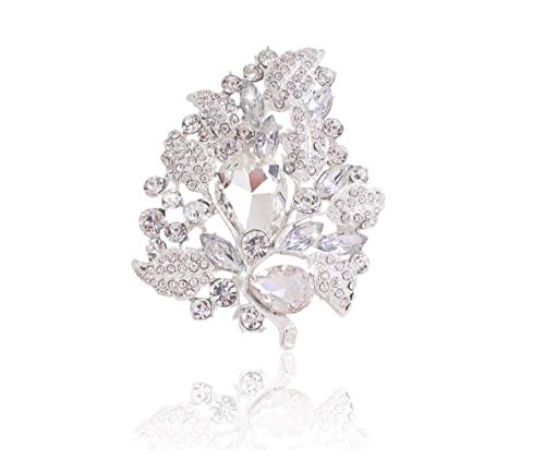 KXBY Alfileres Grandes Broches ovalados Diamantes