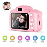 Womdee Kids Digital Camera Video Recorder Camera Toy, Cartoon Mini Child Camcorder Screen and Shockproof Video Camera for Kids Girls Boys, Pink
