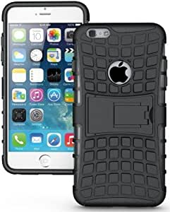 Sedoka Back Cover for Apple Iphone 6s(kick Stand)(Matte Black) With Free Key Ring