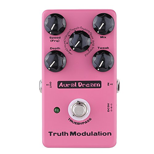Aural Dream Truth Modulation Multi MOD Guitar Effects Pedal including Flanger Chorus Pitchshift Tremolo Phaser Ring effects True Bypass