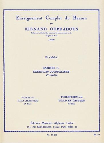 LEDUC OUBRADOUS - ENSEIGNEMENT COMPLET DU BASSON VOL 2