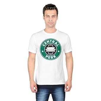 Redwolf Central Perk Graphic Printed Half Sleeve Cotton T-Shirt
