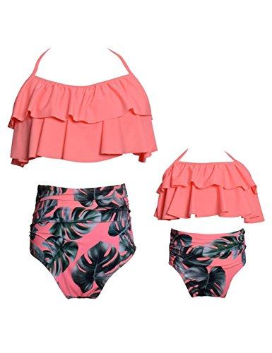 Yiding 2 Pcs Bikini Set Cute Sexy Parent-child Swimwear