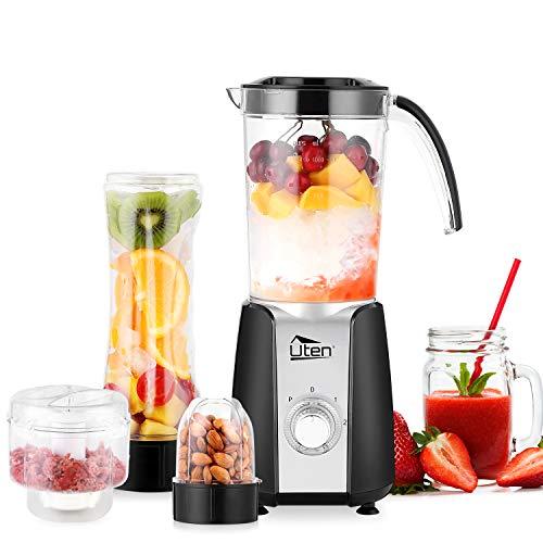 Frullatore Smoothie, Uten Mini Blender Juicer, Frullatore per Frutta e Verdura, Frullatore Portatile con 2 Lame in Acciaio Inox e Bottiglie in Tritan per Sport, Viaggi e Casa, Senza BPA