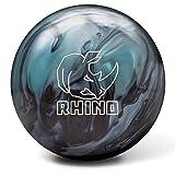 Brunswick Rhino Boule de Bowling réactive Bleu métallisé/Noir, Mixte Adulte, Brunswick Rhino Reactive Bowling Ball- Metallic Blue/Black 14lbs, Bleu/Noir, 14
