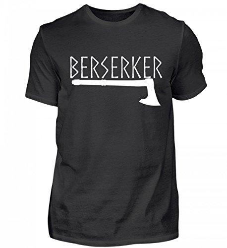 PlimPlom Hochwertiges Herren Shirt - Berserker Krieger mit Wikinger Axt (Axt Berserker)