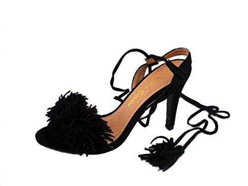 Rebelde , Sandales pour femme Noir
