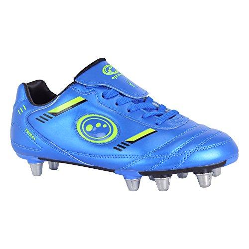 Optimum Tribal - Chaussures de Rugby - Homme Bleu (Blue/Neon Green)