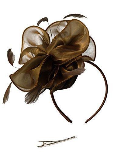 Feibao Fascinators Hut Damen Tea Party Stirnband Hochzeit Cocktail Blume Haarspange Derby Headwear (Und Halloween-kostüme Für Mütter Töchter)