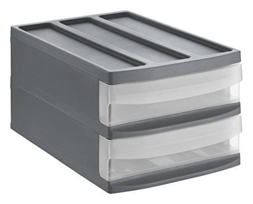 transparent A6+ 21 x 18 x 17 cm Sundis Orgamix Schubladenbox 3 Sch/übe