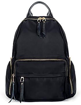 UTO 13.3 Inch Laptop Backpack Oxford wasserdicht Nylon Unisex Rucksack mit Leder Schulterriemen Schule College...