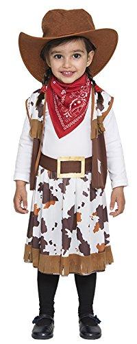 Kostüm Cowgirl Mädchen Gr.92/98 Weste Rock Hut Halstuch Kinder Fasching