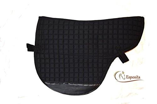 aufpolsterbare Satteldecke für baumlose Sättel in Schwarz