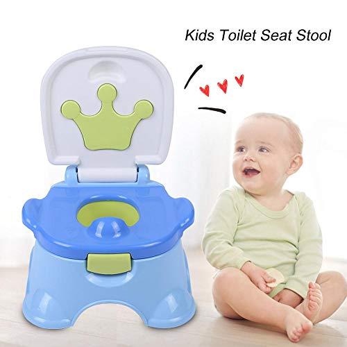 Vasino per bambini,Vasino da viaggio Toilette WC per bambini Sedile Bambino,Riduttore WC Bambini con Imbottitura Maniglie Sedile Copriwater,35 * 33 * 23cm
