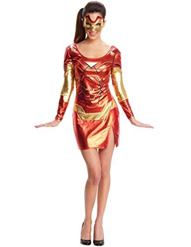 Generique - Iron Girl-Superheldin Lizenzkostüm für Damen rot-Gold XS (Iron Girl Kostüm)