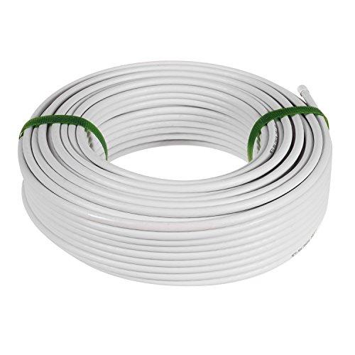 3/n/úcleos de cable redondos blancos y flexibles rollo completo y corte personalizado en varias longitudes disponibles. cable flexible