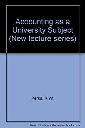 Accounting as a University Subject (New lecture series)