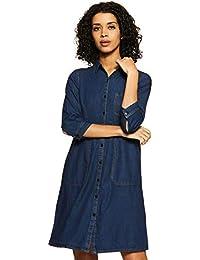 Amazon Brand - Inkast Denim Co. Women's Shift Knee-Long Dress