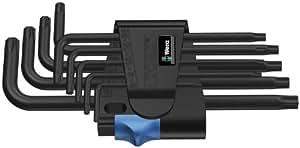 Wera 967 L/9 TORX® HF 05024244001 Clé mâle coudée avec fonction de retenue BlackLaser 9 pièces