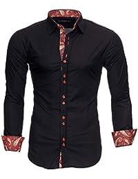 7949fda398 Kayhan Hombre Camisa Manga Larga Slim Fit S - 6XL Modello Royal