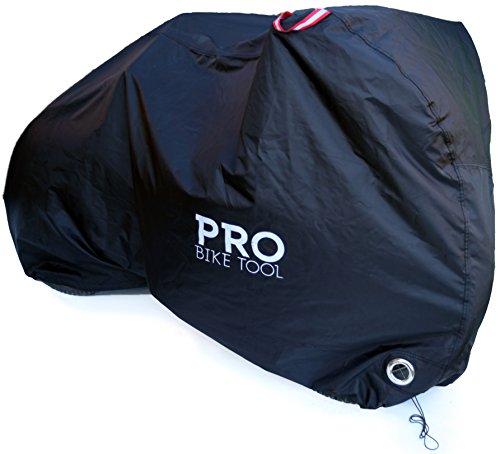 Housse de protection pour vélos d'extérieur - XL - Tissu Ripstop résistant, imperméable et anti-UV - Protection contre toutes les conditions climatiques pour les vélos de montagne et de route, noir
