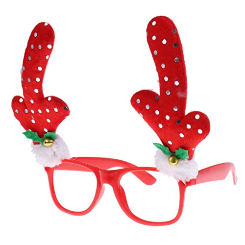 Gazechimp Lustige Weihnachtsmann / Weihnachtsmütze / Geweih Weihnachtsgläser Rahmen für Weihnachten, Silvester, Halloween, Kostüm oder Maskerade - (Halloween Kostüme Lustige Bilder)