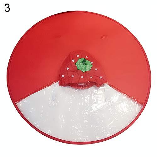 collectsound UFO Rain Coat Children Umbrella Frog Car Strawberry Rabbit Hands Free Raincoat