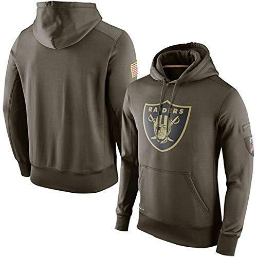 ATI-HSKJ Männer Kapuzenpullover Oakland Raiders Jacke American Football Sport American Football-Trikots Pullover Rugby Langarmshirts Pullover Mantel,XXXL185~190CM
