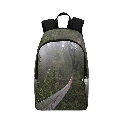 Areial-Ansicht der Hängebrücke-beiläufigen Daypack-Reisetasche College-Schulrucksack für Männer und Frauen - Entdecken Kanada