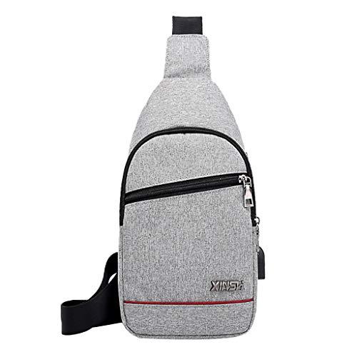 Mitlfuny handbemalte Ledertasche, Schultertasche, Geschenk, Handgefertigte Tasche,Männer Oxford Tuch Brusttasche Sport Outdoor Freizeit Multifunktionstasche