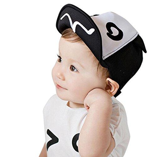 Baseball Kappe fürs Kleinkind,OYSOHE Neueste Kinder Hut Sommer Mesh Soft Krempe Flanging Sun Hut Baseball Cap (Einheitsgröße, Schwarz) (Hip Hop Baby Kostüm)