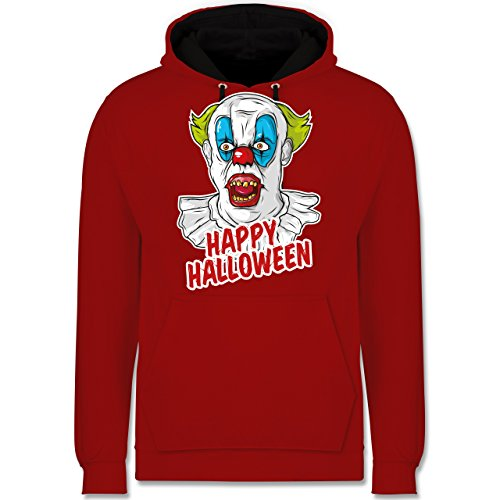 Shirtracer Halloween - Happy Halloween - Clown - L - Rot/Schwarz - JH003 - Kontrast ()