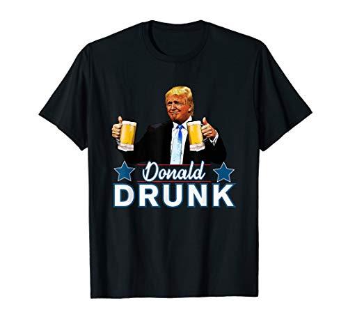 Lustig American Apparel (Donald Drunk Lustiger Trumpf 4. Juli Trinkende Präsidenten T-Shirt)